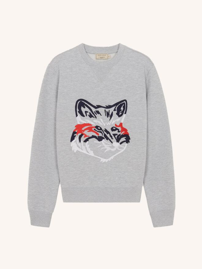 Maison Kitsune - BIG FOX EMBROIDERY REGULAR SWEATSHIRT