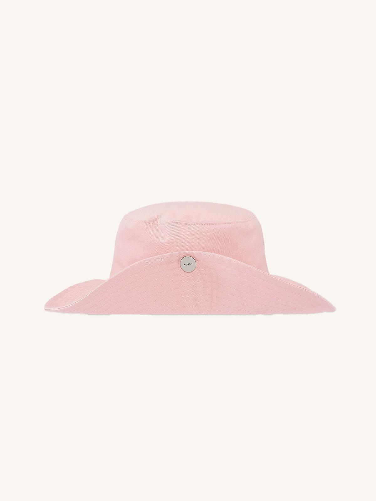 Ganni - GANNI SOFTWARE ORGANIC COTTON SNAP HAT