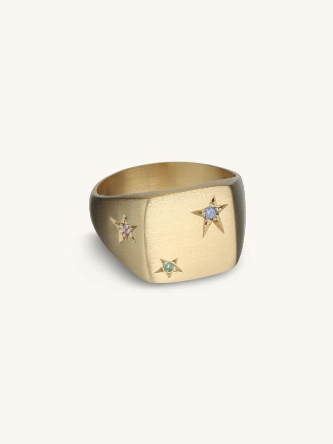 Jane Kønig - STAR SIGNET RING