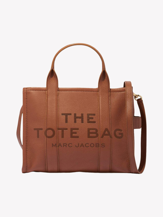 Marc Jacobs - LEATHER SMALL TOTE BAG ARGAN OIL
