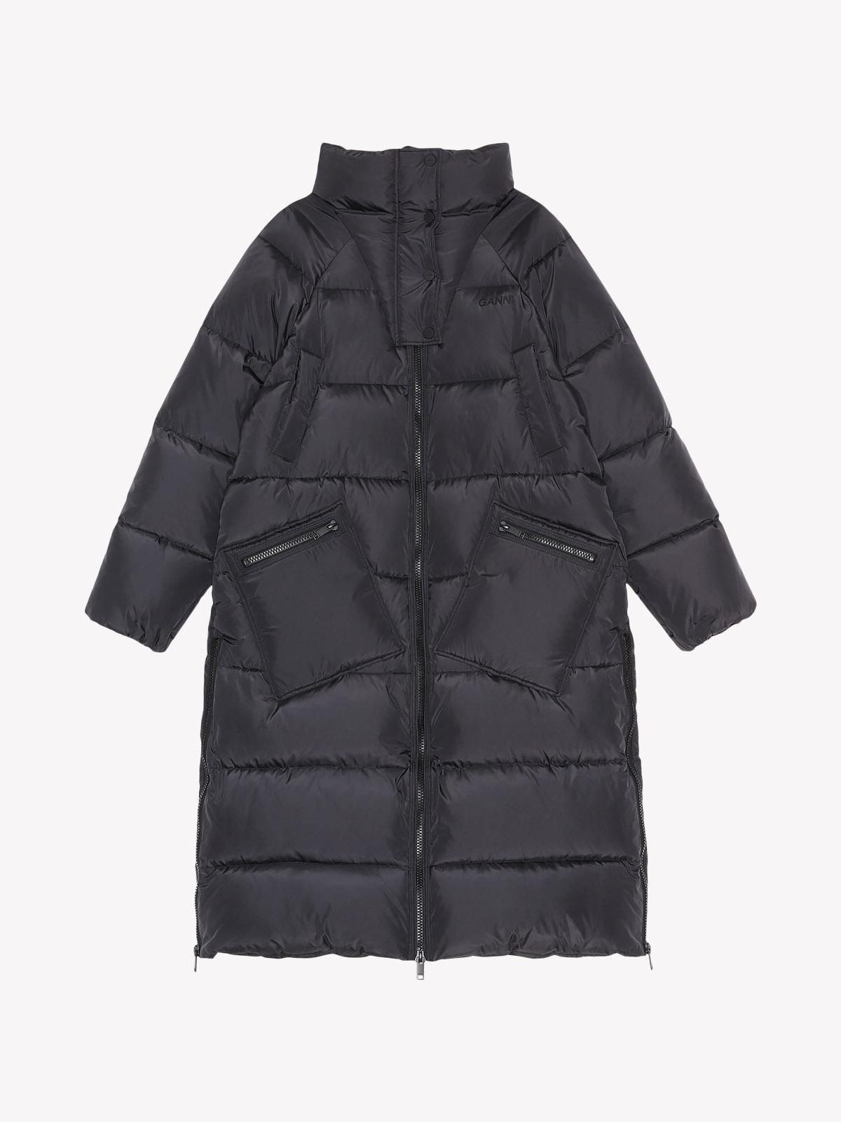 Ganni - GANNI PUFFER COAT BLACK
